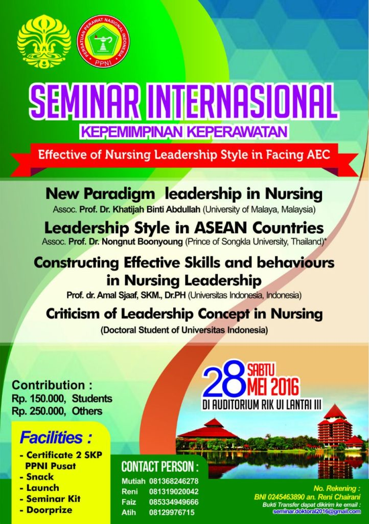 Seminar Intl Kepemimpinan Keperawatan