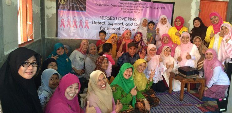 Staf Departemen DKKD FIK UI Peduli Kanker Payudara
