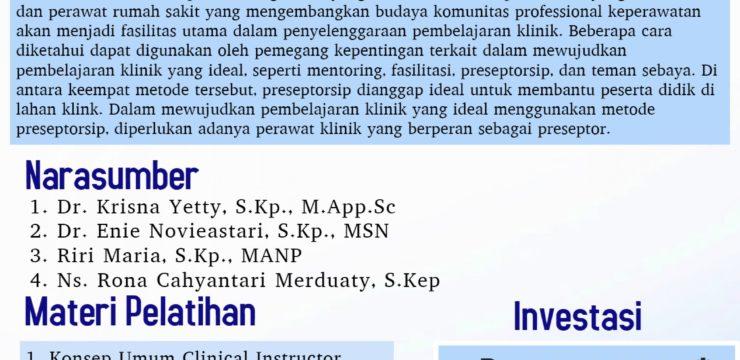 Pelatihan Preseptorsip FIK UI 2018