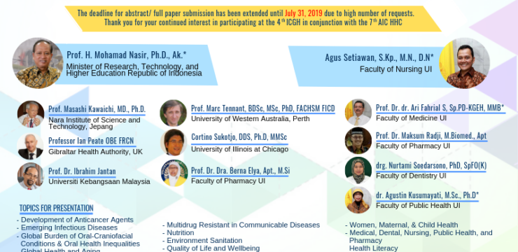 The 4th International Conference on Global Health (ICGH) in conjunction with The 7th Asian International Conference on Humanized Health Care (AIC-HHC)