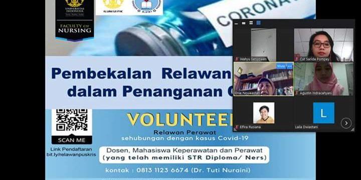 FIK UI Beri Pelatihan bagi Relawan Perawat yang Bertugas di RS Rujukan COVID-19