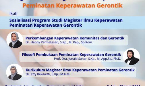 Sosialisasi Program Studi Magister Ilmu Keperawatan Peminatan Keperawatan Gerontik